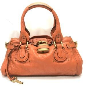 Auth CHLOE Paddington Leather Shoulder Bag
